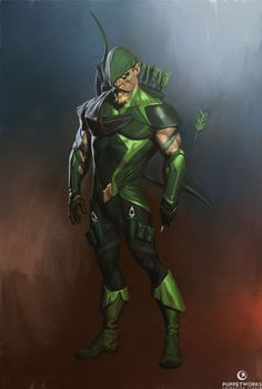 Green Arrow from Injustice 2 by Aron Elekes Green Arow, Green Arrow Comics, Arrow Black Canary, Hq Dc, Comic Kunst, Comic Art, Comic Books, Dc Characters, Injustice 2 Characters