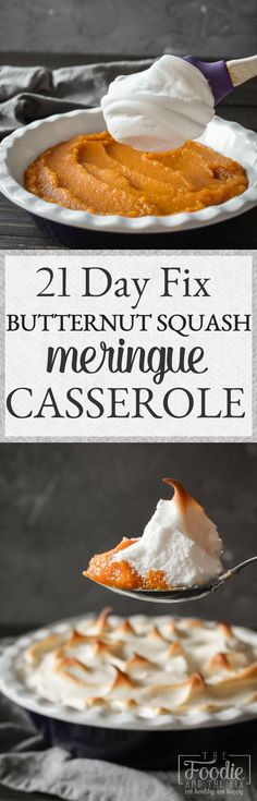Butternut Squash Meringue Casserole {Instant Pot | Slow Cooker | Oven} | The Foodie and The Fix