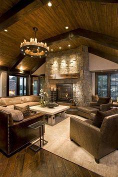 rustic living room yes please: