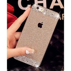 UnnFiko Case Cover for Iphone 6 La Go Go Diamond Hybrid Glitter Bling... ($2.35) ❤ liked on Polyvore featuring accessories, tech accessories ve gold smartphone