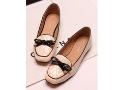 Casual Women's Flat Shoes With Bows and Stitching Design (APRICOT,40) China Wholesale - Sammydress.com