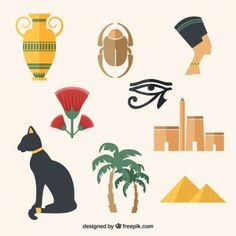 variety-of-egyptian-culture-elements_23-2147521242.jpg (338×338)