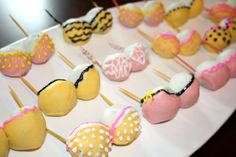 Bachelorette Party Cake Pops! I knew something clever would be done with those cake pops!