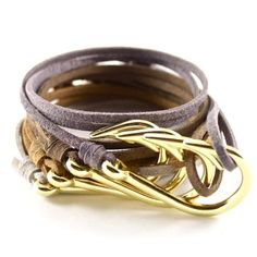 Suede Fish Hook Bracelets  Leather Bracelet by PortUnionTrading, $17.99