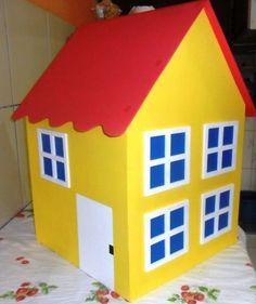 Casa da Peppa em mdf, ideal para ornamenta��o de festas infantis