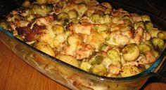 Recept: Ovenschotel met kip en spruitjes