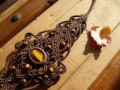 Tiger eye Macrame Bracelet fairy bracelet boho by BelisaMag