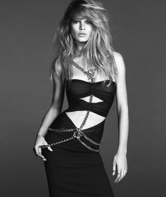 Anna Ewers Poses for Versace Spring 2014 Woman Campaign