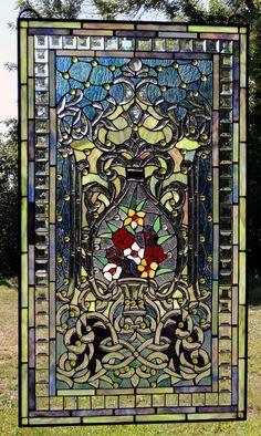 Refreshing Garden Stained Glass Window