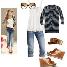 Minus the wedges.  I'd stay with a flat or my fav brown clogs!