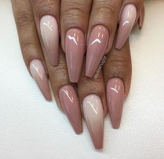 Ombre natural nails. Love the colours and the shape.  Pinterest: @Bora.skr  I have such a bad flu.