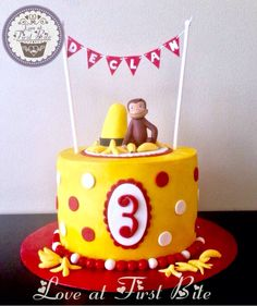 19 Ideas for cake birthday men curious george Curious George Cakes, Curious George Party, Curious George Birthday, Kids Birthday Themes, 4th Birthday Parties, Man Birthday, Birthday Cake, Little Mac, First Birthdays