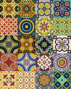 Splashback 24 tile stickers Mexican tile stickers by AlegriaM