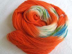 ♥ Sockenwolle 100g ♥ Schurwolle 75% ♥ Handgefärbt ♥ Made by Aleinung ♥ (109)