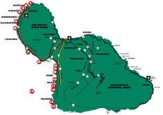 Maui Snorkel Spots 1.Honolu'a Bay 2.makulei'a Bay 3.Kapalua bay 4.Kahekili Beach Park 5.Black Rock 6.Wahikuli Park 7.Olowalu 8.Coral Gardens 9.Kamaole Beac