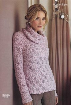 best Ideas for crochet sweater pullover cowl neck Sweater Knitting Patterns, Hand Knitting, Knit Cowl, Knit Crochet, Crochet Hat For Women, Pink Beige, Cowl Neck, Knitwear, Sweaters For Women