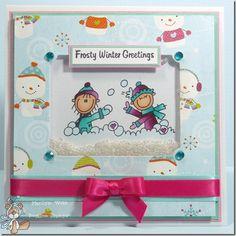 Shaker Card.winter fun