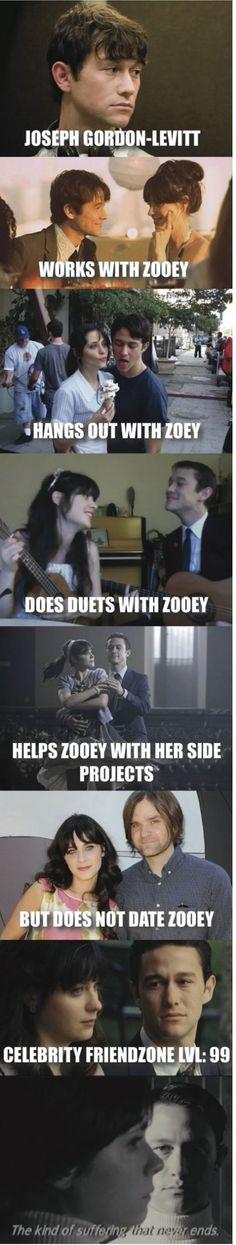 Ultimate Friendzone: Joseph Gordon-Levitt and Zoey Deschanel