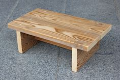 This is a very simple step stool that can be used for a child (or an adult as well as it is very strong). I made this step stool from one piece of 1 ...