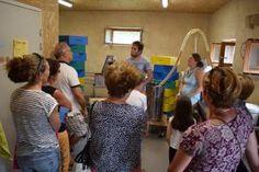 Dans la miellerie réalisée par Claire Prieur et Thomas Le Glatin, tout le processus d'extraction a pu être expliqué.