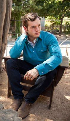 Long Sleeve Players Shirt in Cool Hand Blue | Criquet Shirts | Austin, TX