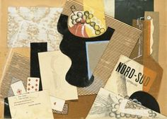 "Gino Severini, still life with literary review ""Nord-Sud"", 1917."