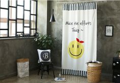 Smile Black Out Wide Fabric for Curtains one sheet by cottonholic