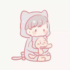 Cute Couple Cartoon, Chibi Couple, Cute Cartoon, Kawaii Cute, Kawaii Girl, Anime Chibi, Anime Art, Character Art, Character Design