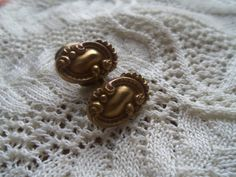 Antique Brass Edwardian Cufflinks by bettyrayvintage on Etsy