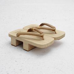 Visvim geta--These are Japanese Yoryorkies. They are worn with toe socks (Japanese style).
