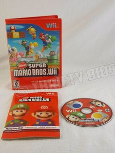Wii New Super Mario Bros. Brothers Nintendo Wii 2009 Complete Tested #Nintendo