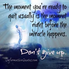 There is a difference between letting go and giving up! just sit, meditate and your #soul will know.