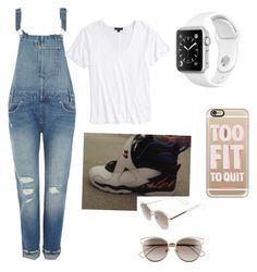 """Going to movie night"" by dd4lfan1 ❤ liked on Polyvore featuring Levi's, Topshop, Casetify and Christian Dior"