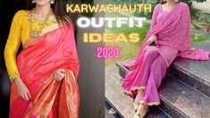 Karwachauth 2020 Outfit Ideas | Beautiful Traditional Dress Ideas For Ka... Dress Ideas, Outfit Ideas, Party Wear Indian Dresses, Traditional Dresses, Indian Fashion, Sari, How To Wear, Outfits, Beautiful