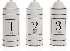 ceramic number canisters $19.95