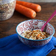 Nutritious snacks to re-energize and power yourself through the afternoon, like this Carrot Cake Granola recipe. #healthysnacks #healthyrecipes #everydayhealth | everydayhealth.com