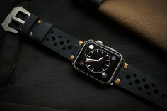 Handmade Vintage Leather Rally Racing incl. Lugs Adapter for Apple Watch (or Apple Watch Sport) 42mm or 38mm