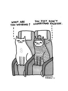 Sky Cats - the Style Issue by gemma correll, via Flickr