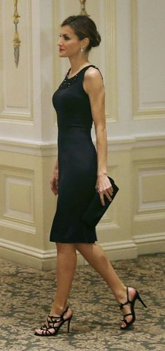 Queen Letizia at a reception by the King and Queen in New York