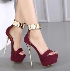 12cm Damenschuhe Stiefeletten Knöchel Blockabsatz High Heels Platform Nachtclub