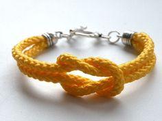 Yellow Rope - bransoleka w Bajobongo na DaWanda.com
