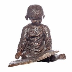 Bronze Statue of a Young Girl Reading a Book - from Randolph Rose