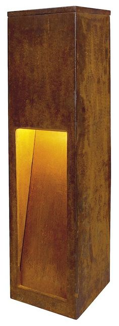 SLV Lighting Exterior Bollards - Rusty Slot 50 LED / 80 LED