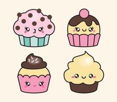 Muffins En Dibujos Imagui Doddles Cute