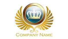 王冠,貴族,皇族,キング,高価,エンブレム 0538【ロゴデザイン作成・販売】