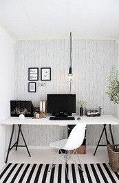 Table tops & legs: Ikea Desk table, Dark grey lerberg trestle with 3 colors of Top