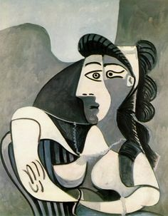 Pablo Picasso - Woman in an Armchair (Bust) - 1962