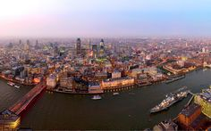 The view from the Shard in London.
