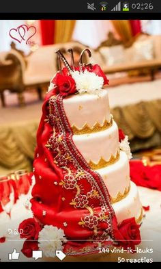Dupatta cake