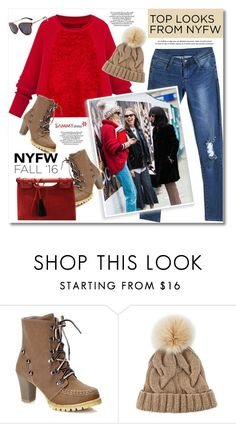 """""""60 Second Style: Best NYFW Street Style"""" by svijetlana ❤ liked on Polyvore featuring Loro Piana, women's clothing, women, female, woman, misses, juniors, NYFW, sammydress and polyvoreeditorial"""